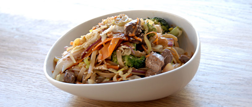 wok oksekød opskrift